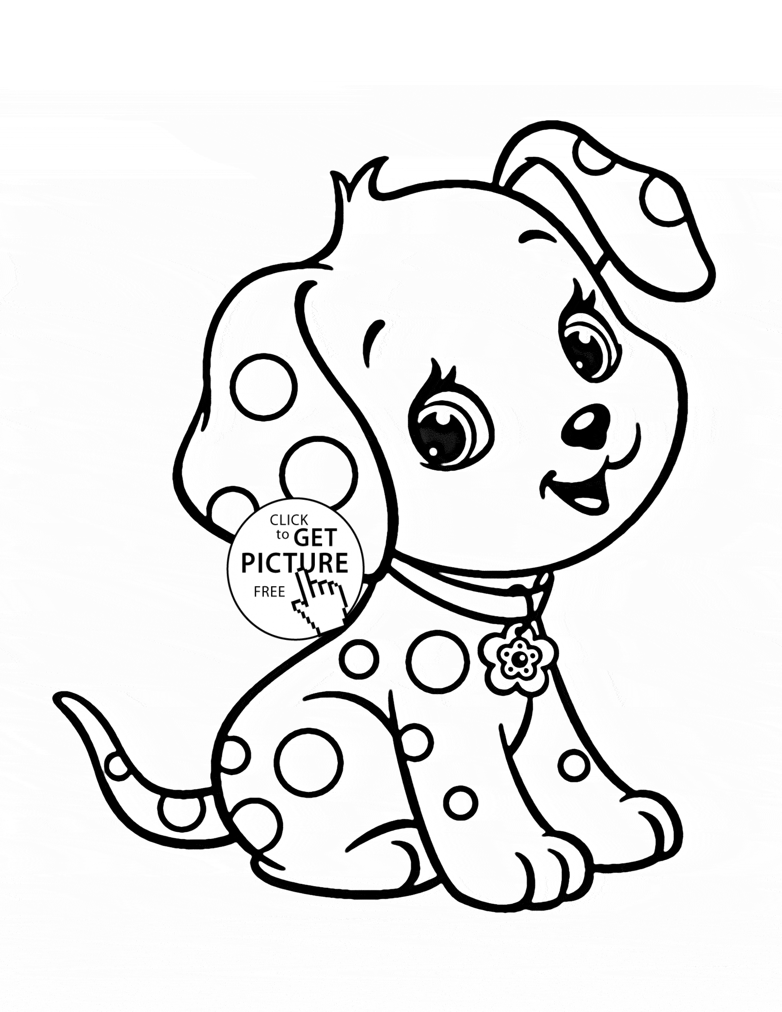 Cartoon Puppy Coloring Pages to Print