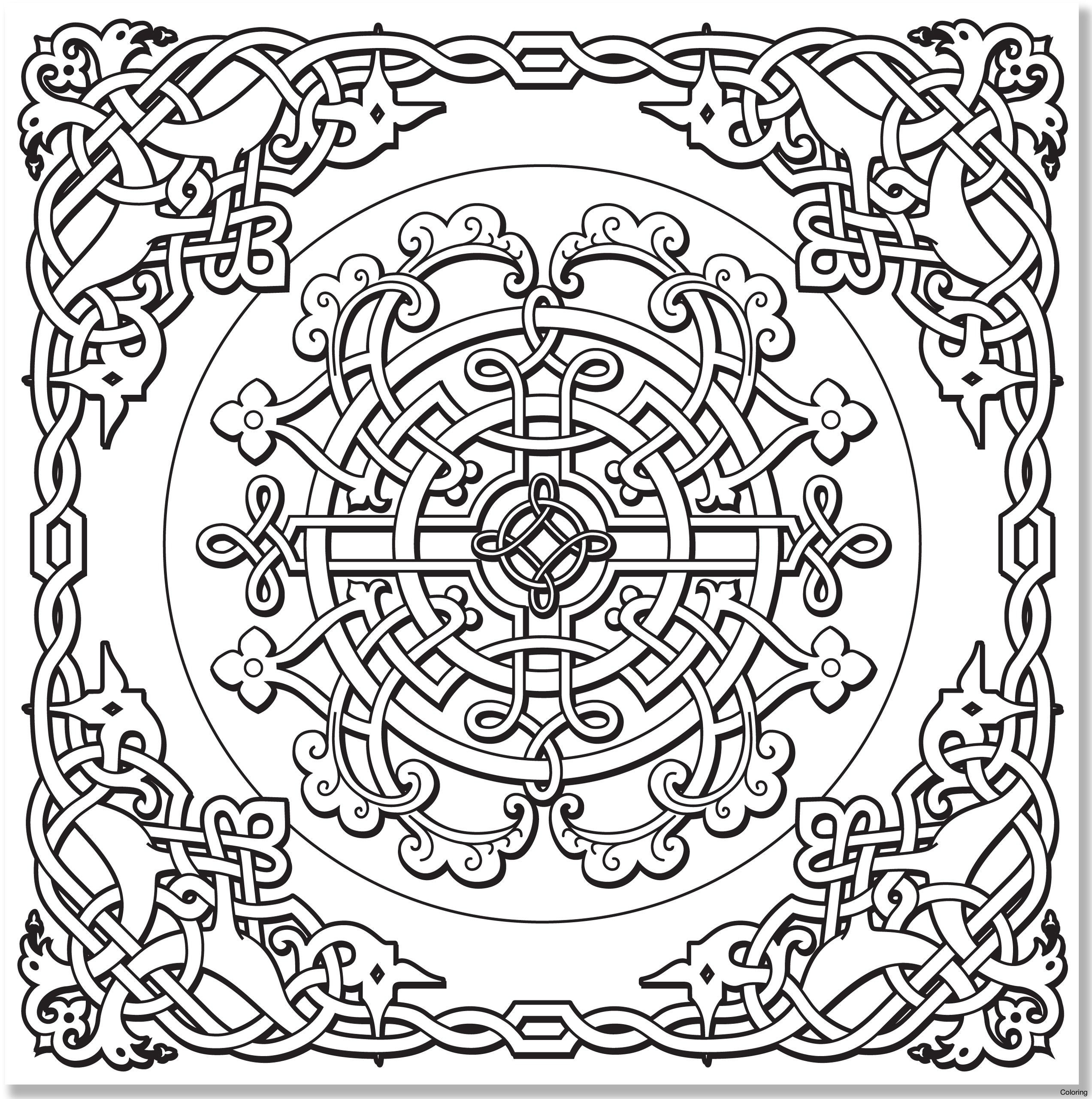Celtic Coloring Pages  Download 19h - Save it to your computer