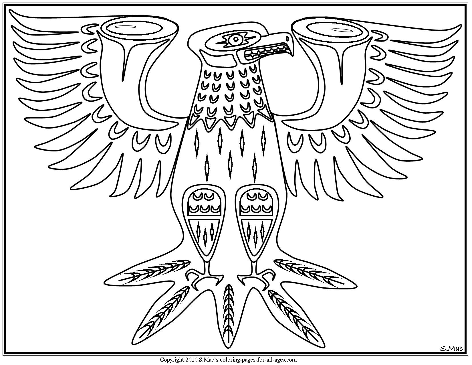 Cherokee Indian Coloring Pages  to Print 2h - Free Download