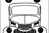 Chevy Coloring Pages - Vintage Truck Color Book Pages