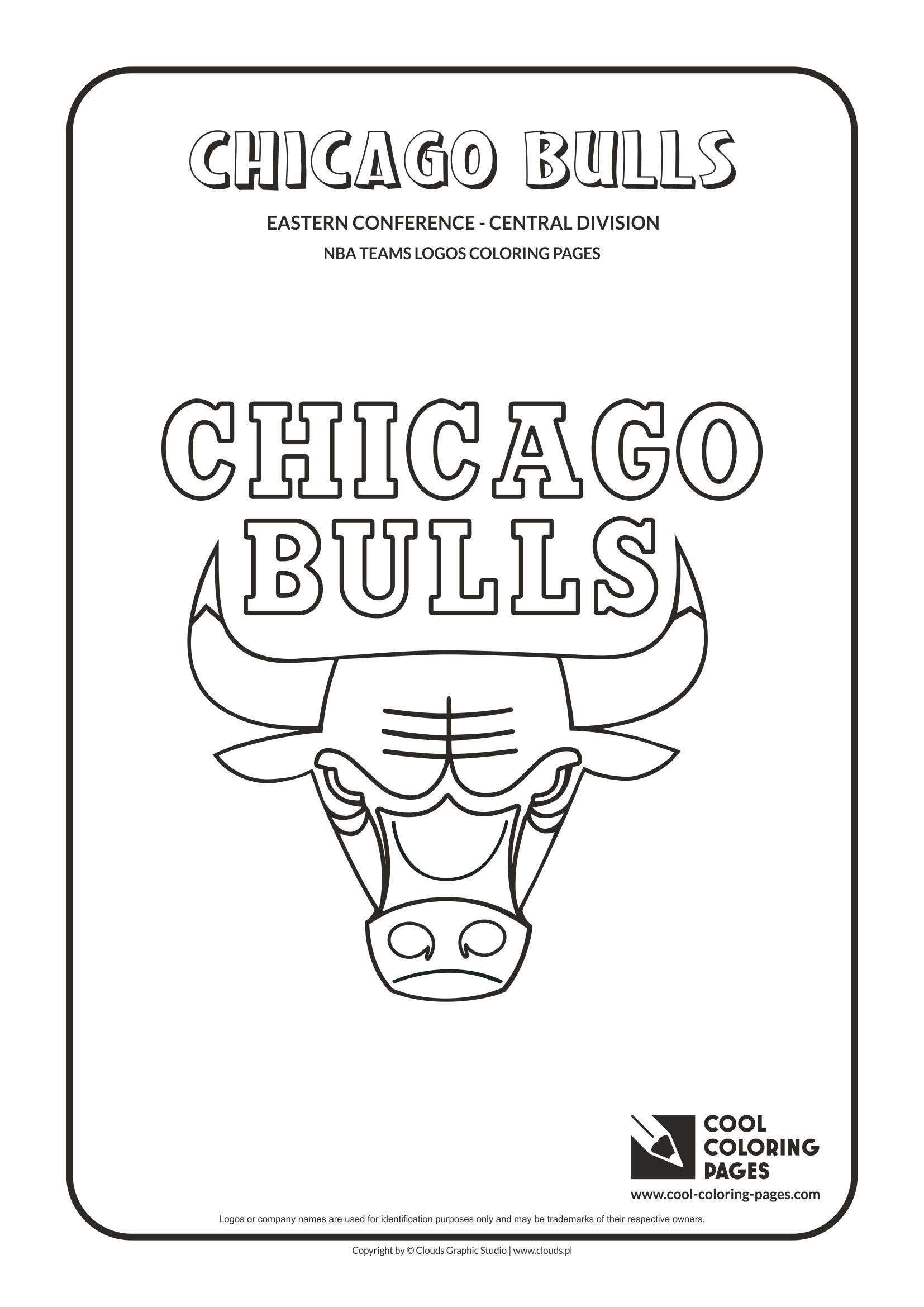 Chicago Bulls Coloring Pages  Collection 17o - To print for your project