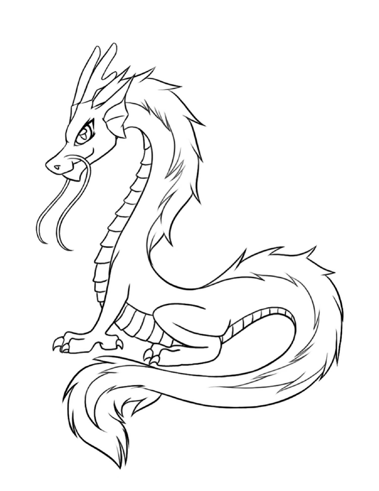 Chinese Dragon Coloring Pages - Dragon Coloring Pages for Fun Coloring