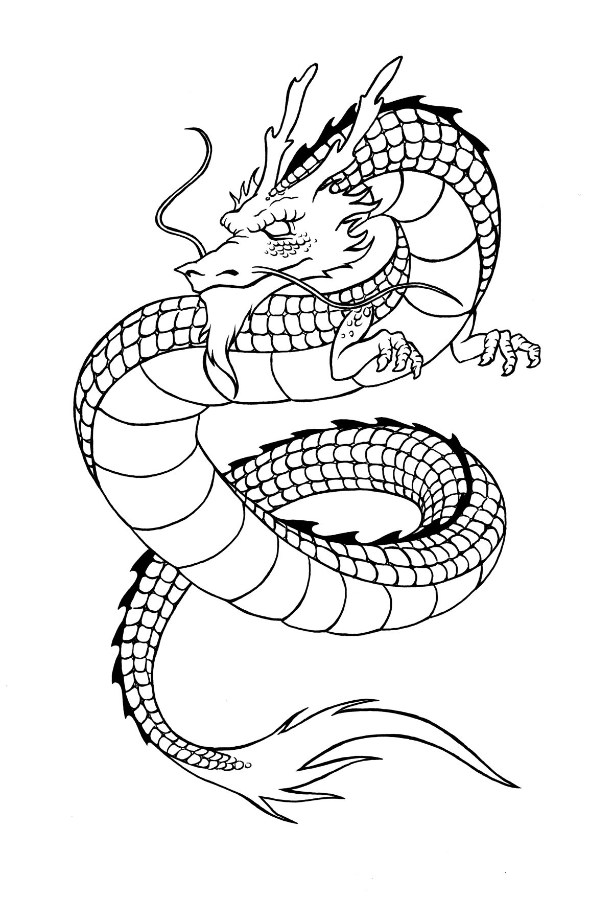 Chinese Dragon Coloring Pages  Download 5b - Save it to your computer