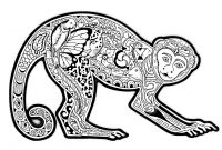 Chiwawa Coloring Pages - Free Coloring Page Coloring Difficult Monkey A Coloring Page with A