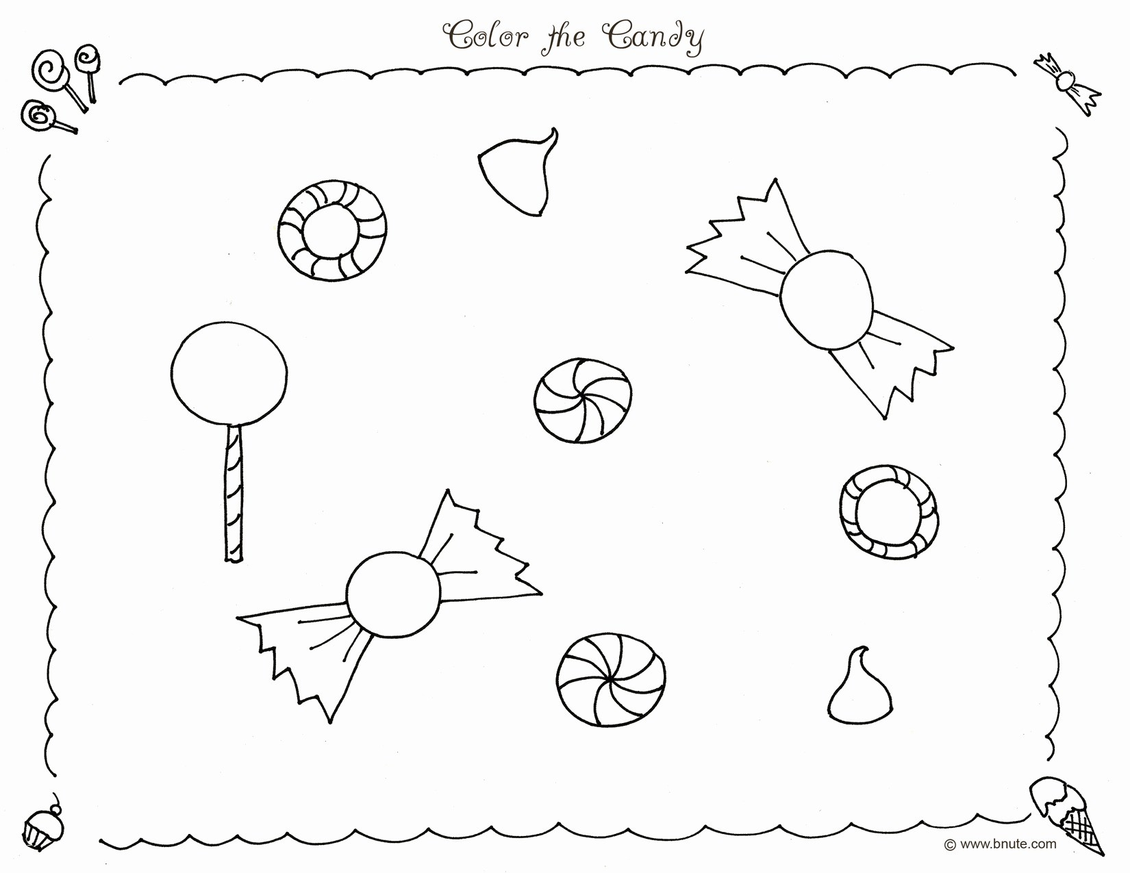Chocolate Candy Coloring Pages  Printable 18j - Free Download