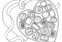 Chocolate Candy Coloring Pages - Valentine Chocolate Box Coloring Page Google Search