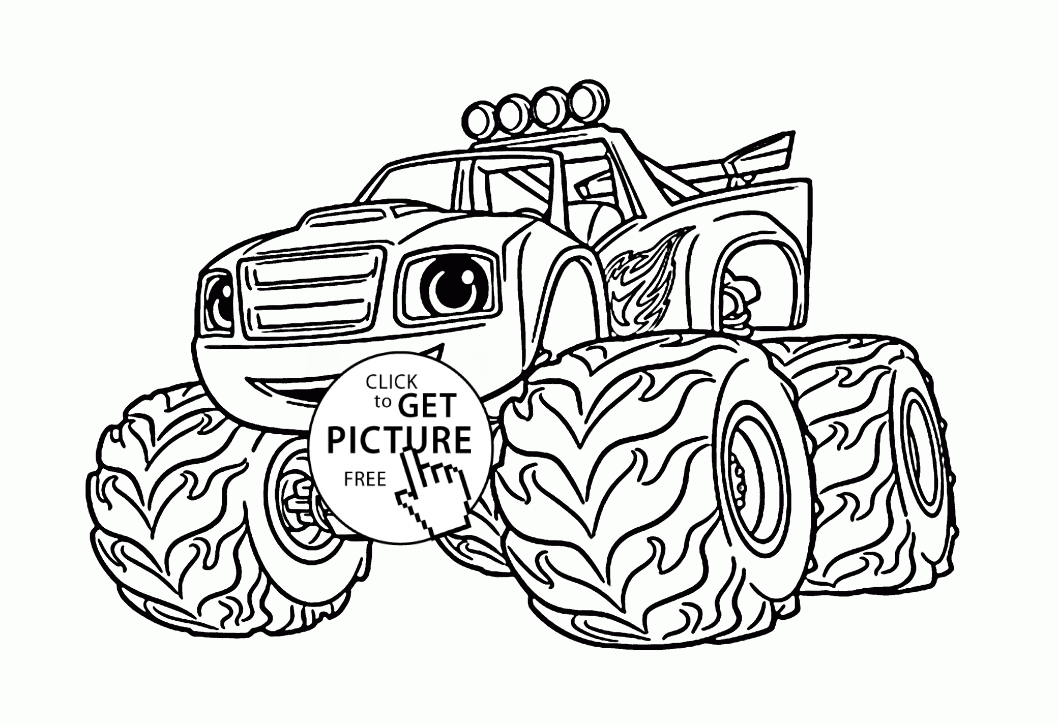Coloring Pages Blaze And The Monster Machines