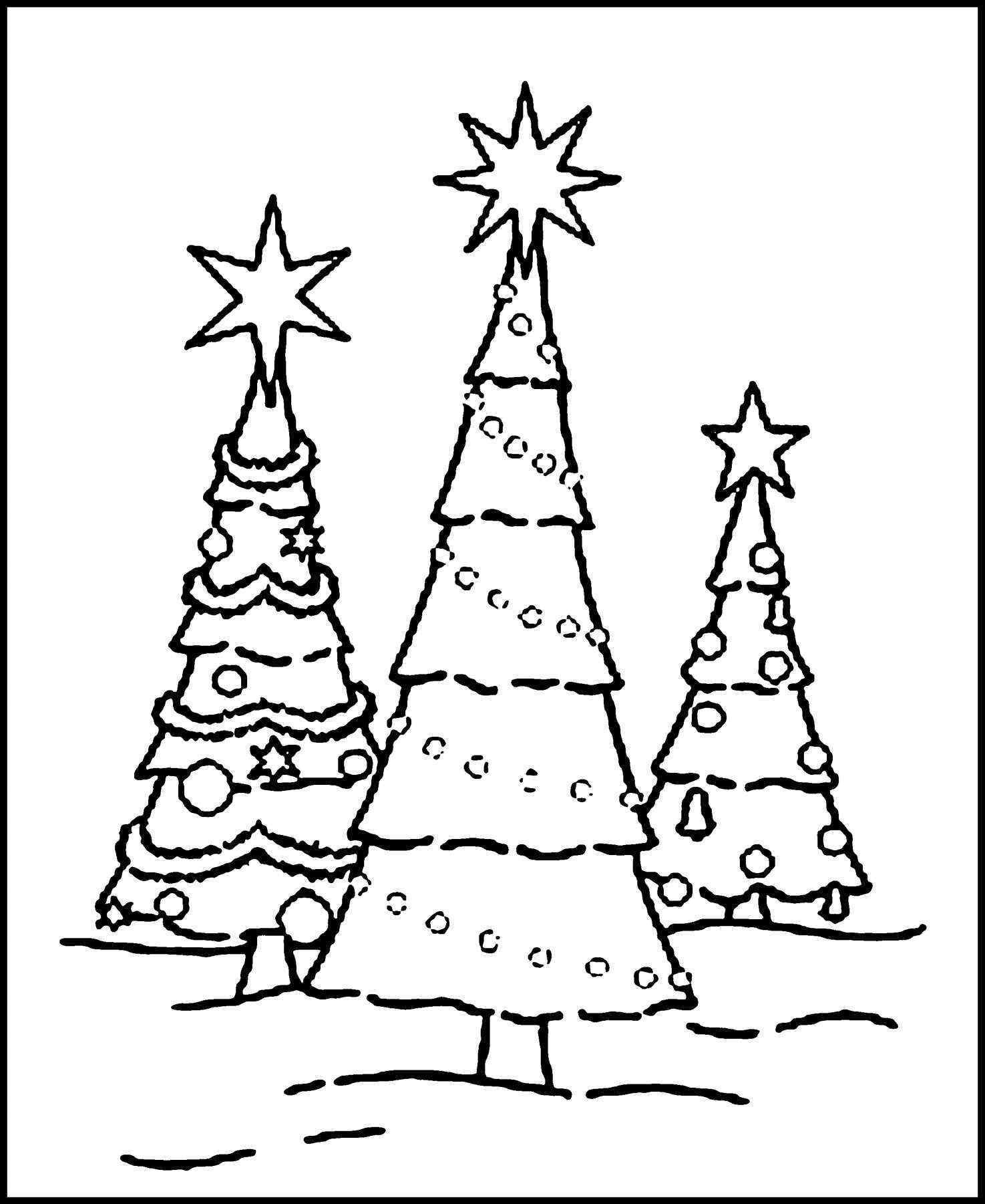 Coloring Pages Christmas Tree to Print | Free Coloring Sheets