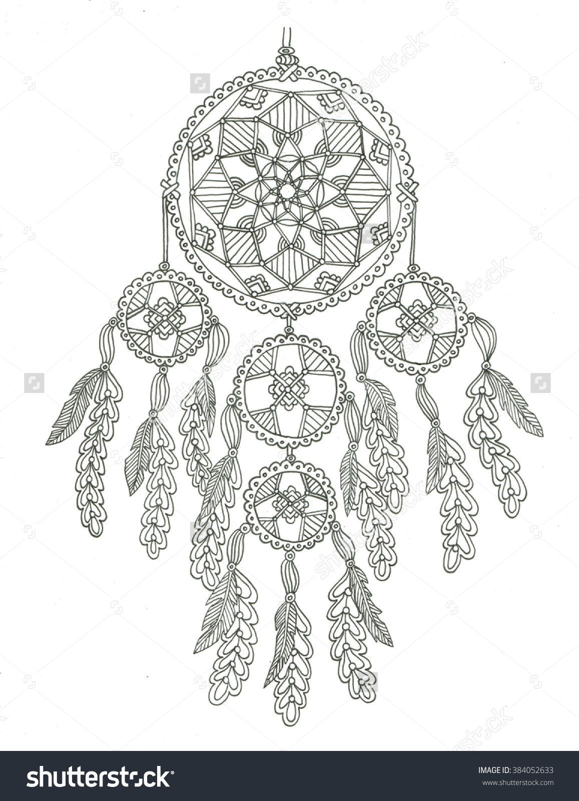 Coloring Pages Dream Catchers  Printable 5p - To print for your project