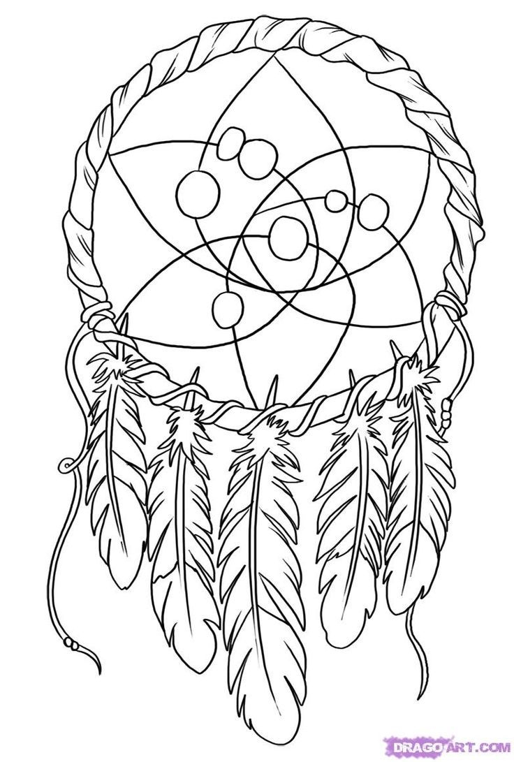 Coloring Pages Dream Catchers  Printable 15o - To print for your project