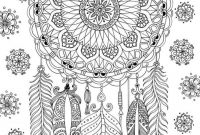 Coloring Pages Dream Catchers - Dreamcatcher Coloring Page by Felicity French Coloring Fun