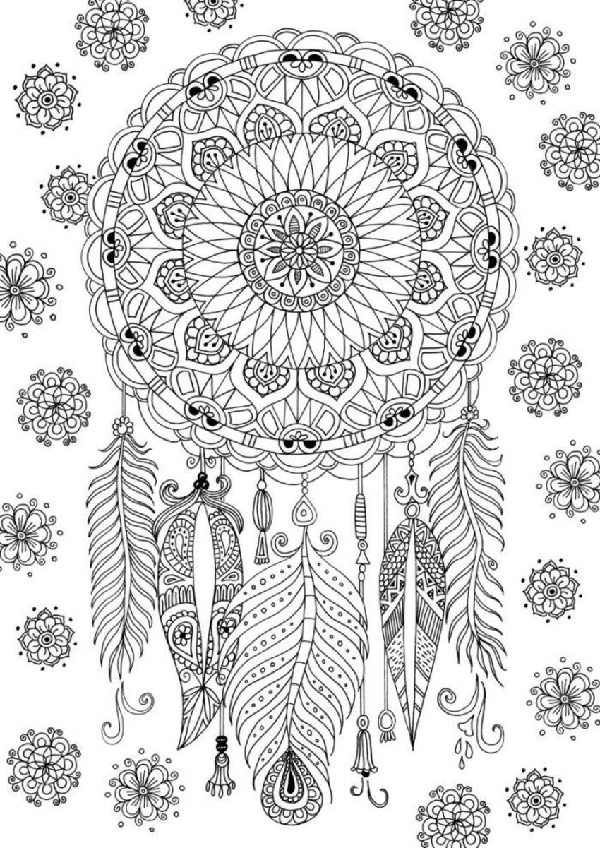 Coloring Pages Dream Catchers  Printable 20o - Free For Children