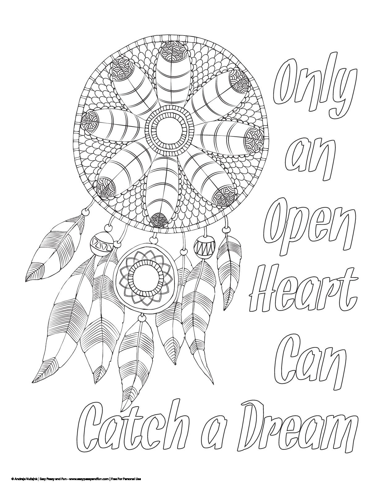Coloring Pages Dream Catchers  Printable 5g - Free For kids
