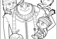 Coloring Pages Family - Despicable Me Gru and All the Family Coloring Page More Despicable