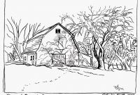 Coloring Pages Farm Scenes - 48 Coloring Pages Nature Scenes