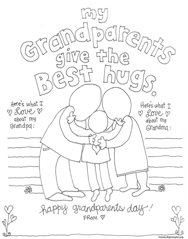 Coloring Pages for Grandparents Day  Collection 12l - To print for your project