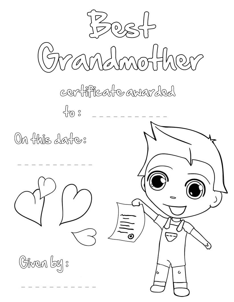 Coloring Pages for Grandparents Day  Collection 6m - To print for your project