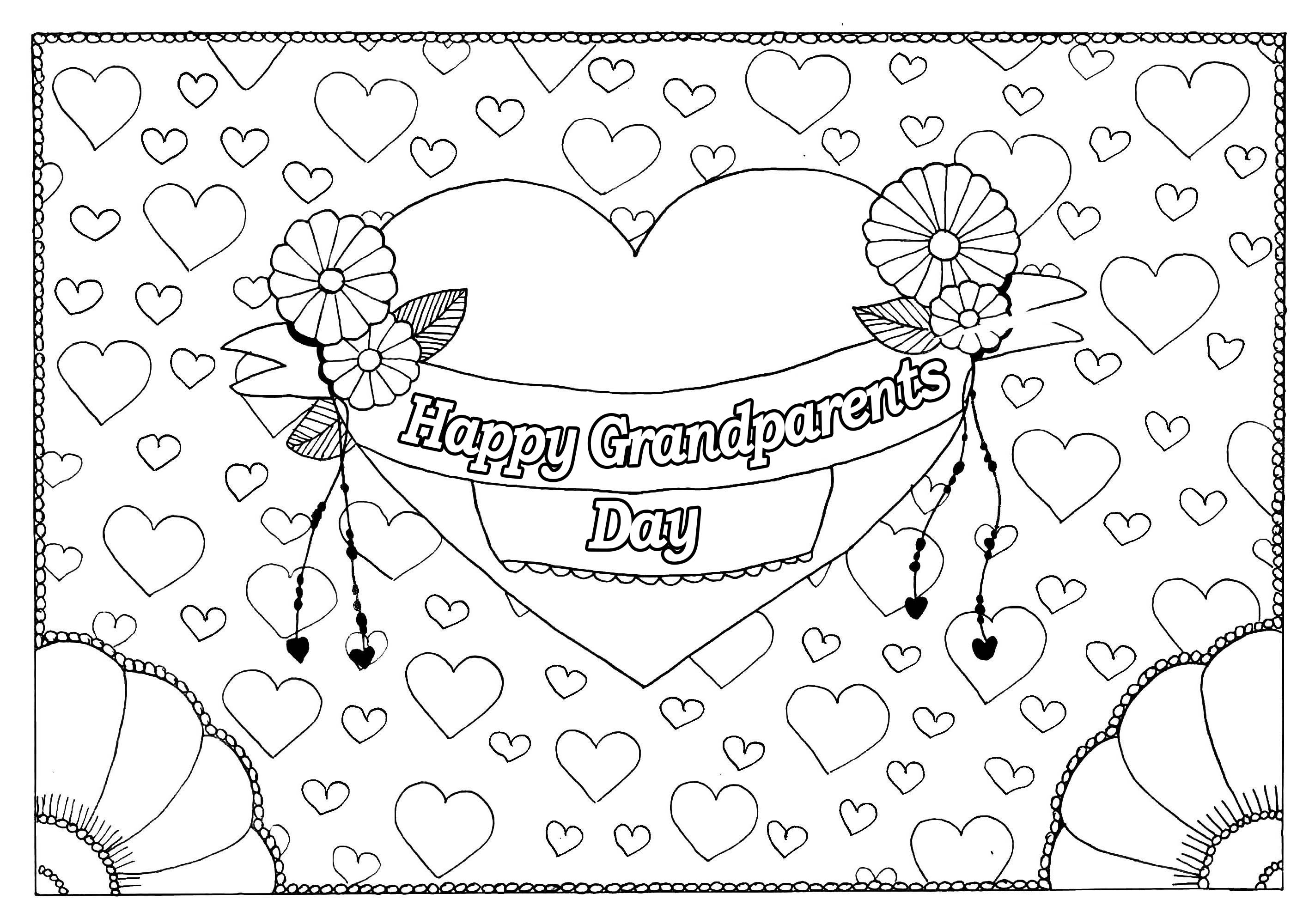 Coloring Pages for Grandparents Day  Collection 2q - Free For kids