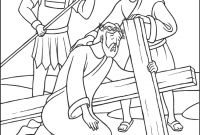 Coloring Pages Jesus ascension - Stations Of the Cross Coloring Pages 7 Jesus Falls the Second Time