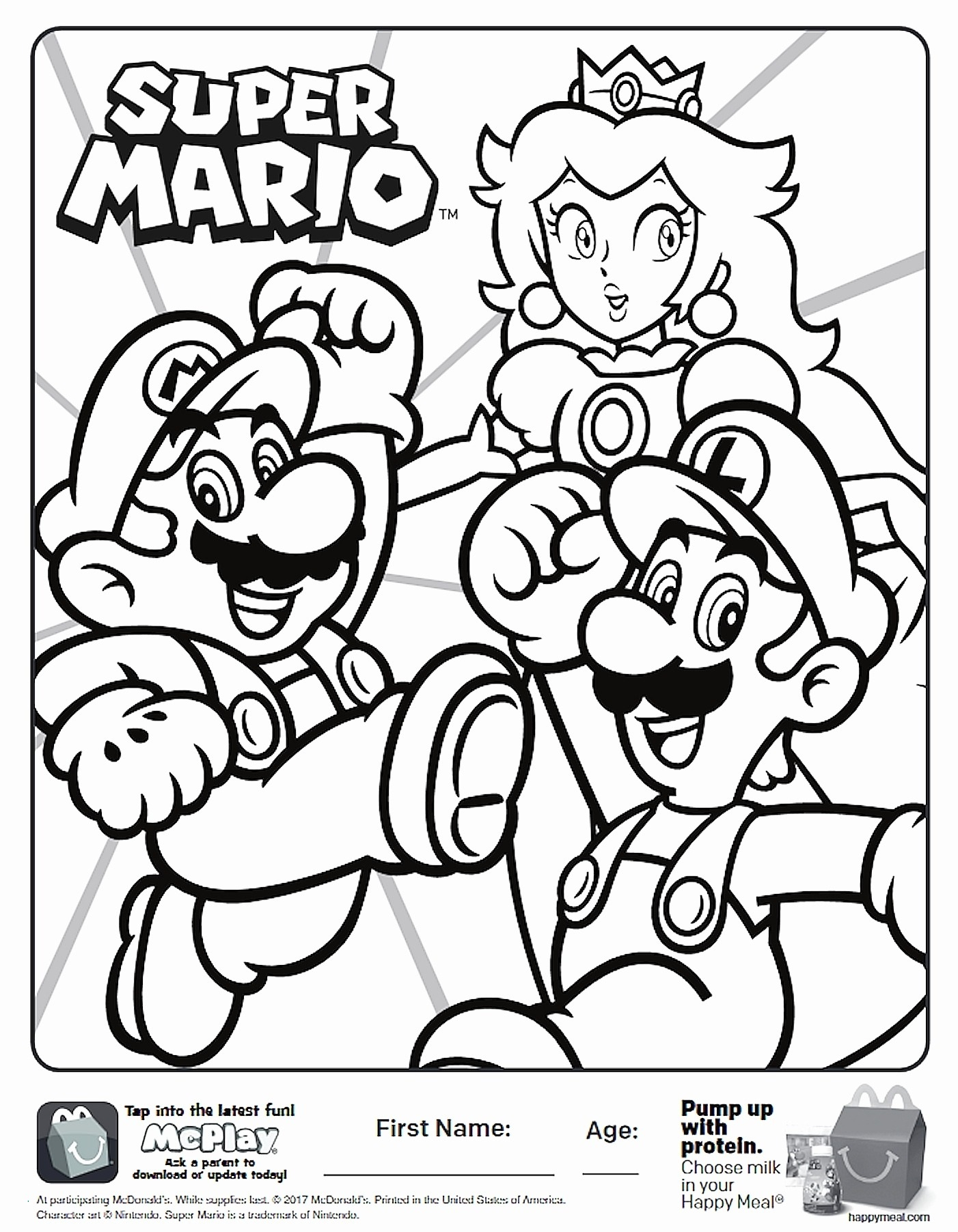Coloring Pages Mario  Download 7j - Save it to your computer