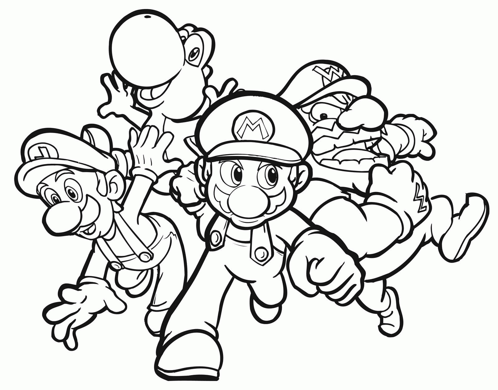 Coloring Pages Mario  Download 18d - Free For Children