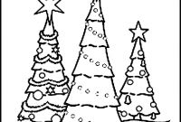 Coloring Pages Of Christmas Trees - Elegant Black and White Christmas Tree – Yepigames