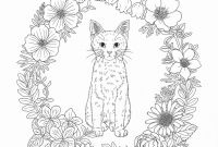 Coloring Pages Of Kittens - Harmony Nature Adult Coloring Book Pg 39