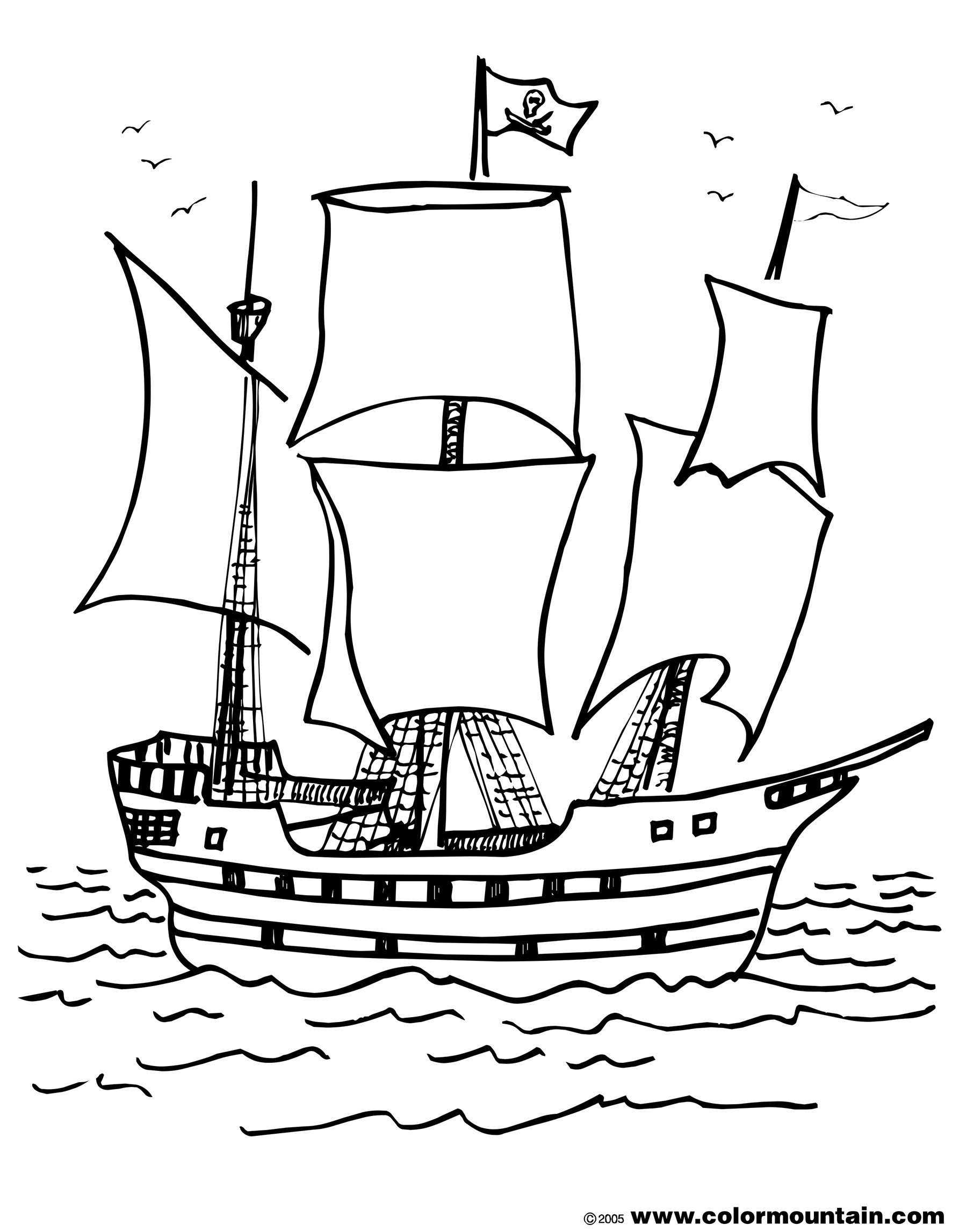 Coloring Pages Of Ships  Download 6j - Free For Children