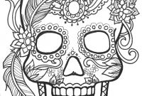 Coloring Pages Of Sugar Skulls - 10 Sugar Skull Day Of the Dead Coloringpages original Art