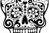 Coloring Pages Of Sugar Skulls - Coloring Pages Dazzling Day Of the Dead Coloring Pages Picture