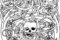 Coloring Pages Of Sugar Skulls - New Skull Coloring Pages for Adults Flower Coloring Pages