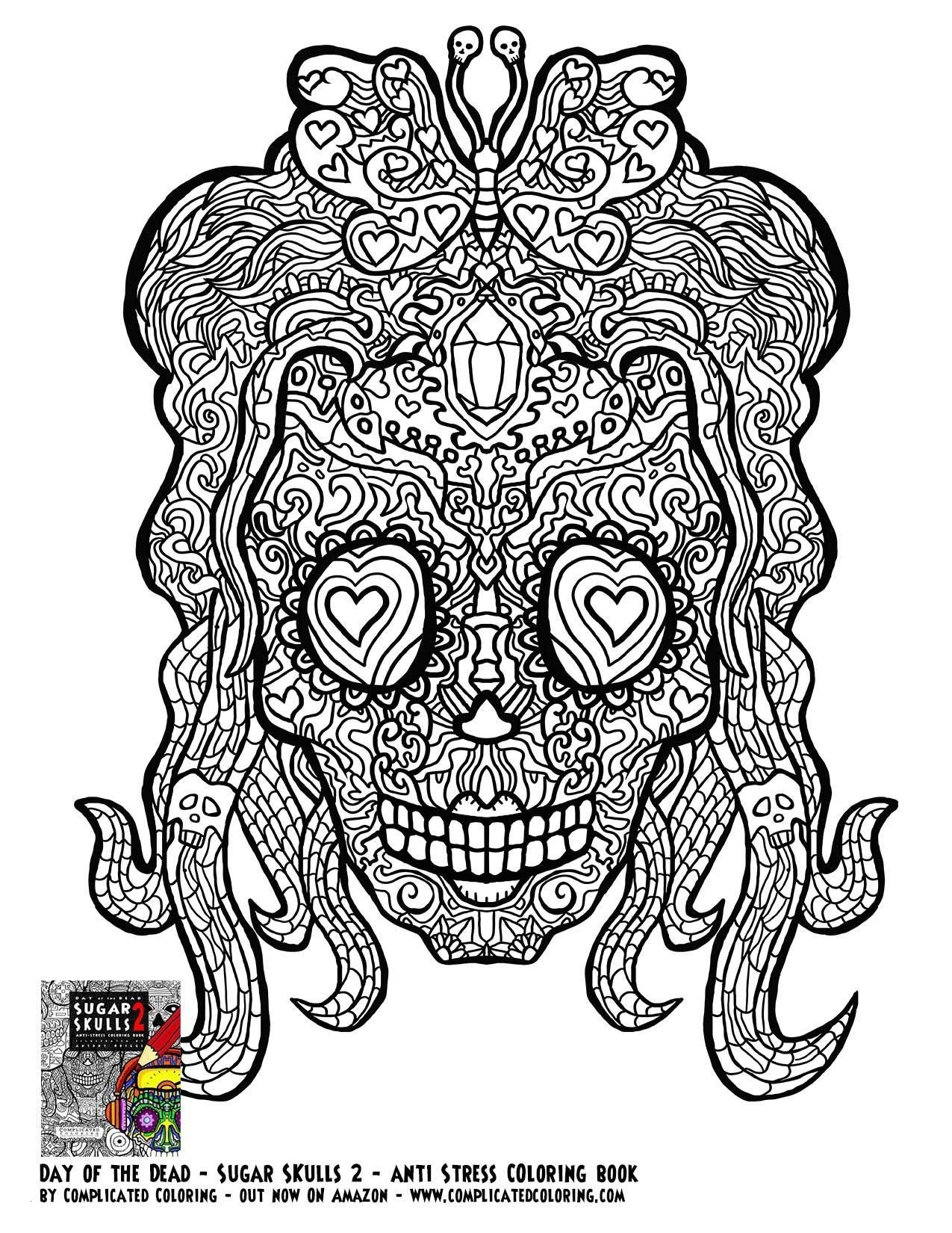 Coloring Pages Of Sugar Skulls  Download 20h - Free Download