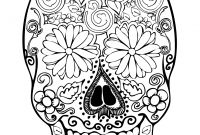 Coloring Pages Of Sugar Skulls - Simple Candy Skull Coloring Pages Sugar Printable Dia De Los