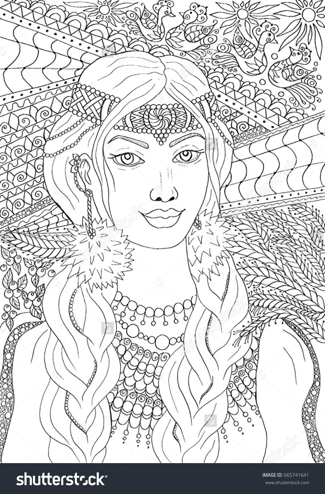 Coloring Pages Of Women  to Print 5c - Save it to your computer
