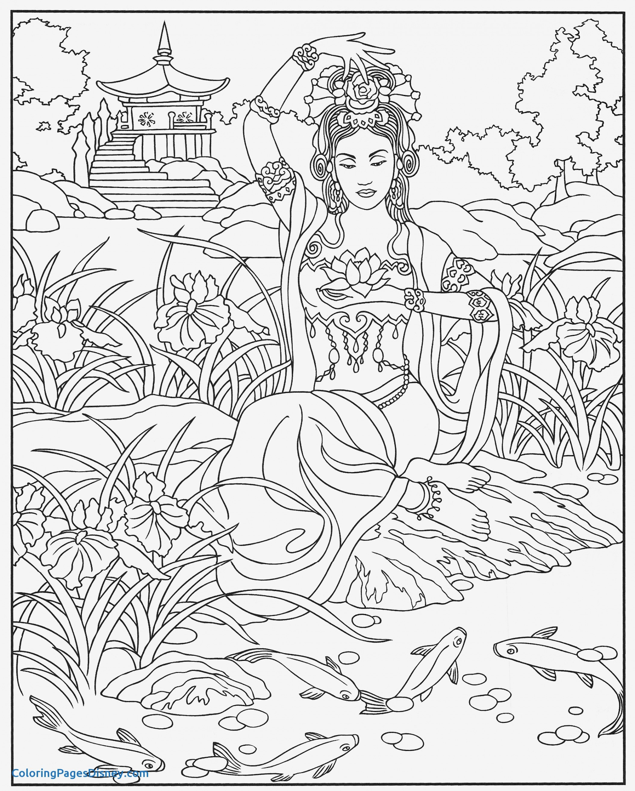 Coloring Pages Of Women  to Print 20h - Free For Children