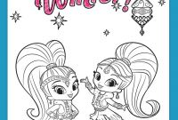 Coloring Pages Shimmer and Shine - 14 Best Coloring Images On Pinterest