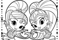 Coloring Pages Shimmer and Shine - Shimmer and Shine Printable Coloring Pages