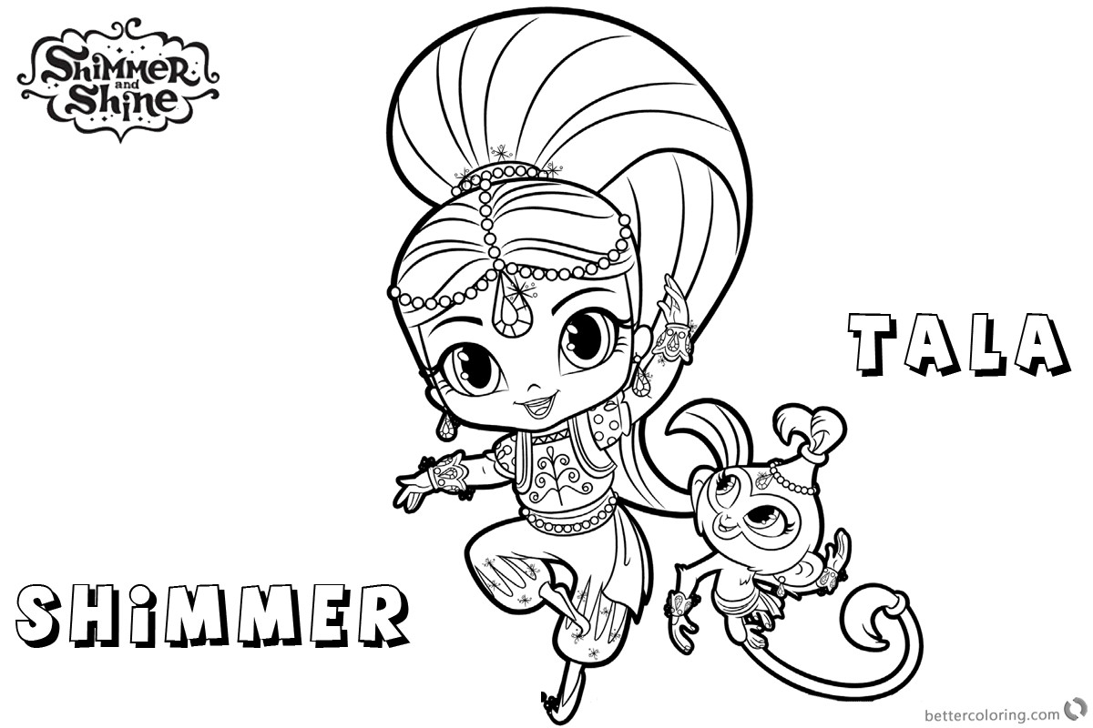 Coloring Pages Shimmer and Shine  Collection 11b - Free For Children