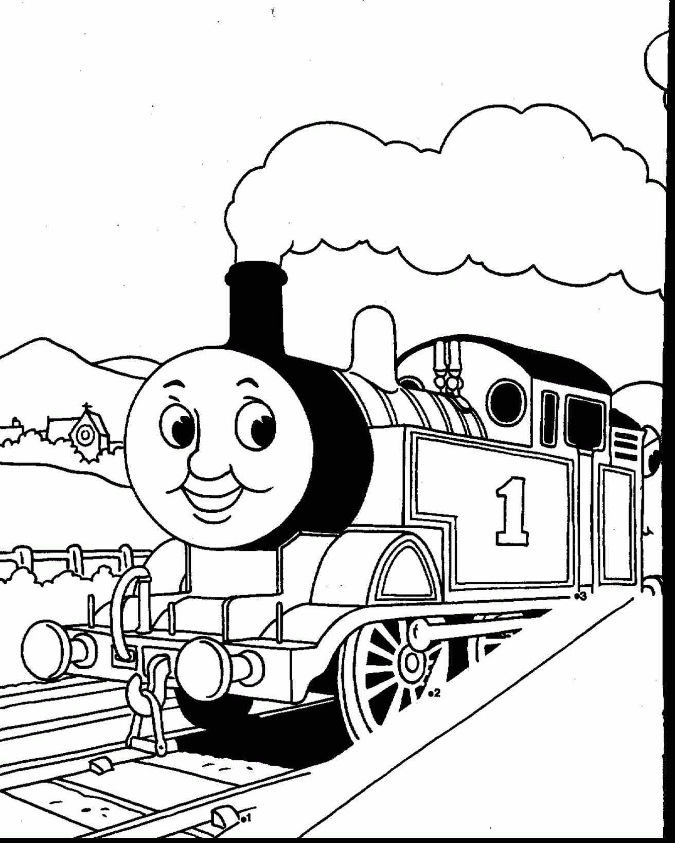 Coloring Pages Thomas the Train  to Print 4r - Save it to your computer