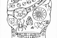 Cool Skull Coloring Pages - Awesome Day the Dead Coloring Pages Best Pretty Ideas Printable