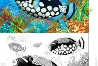 Coral Reefs Coloring Pages - the Coral Reef Small Colorful Coral Fishes with Coloring Page