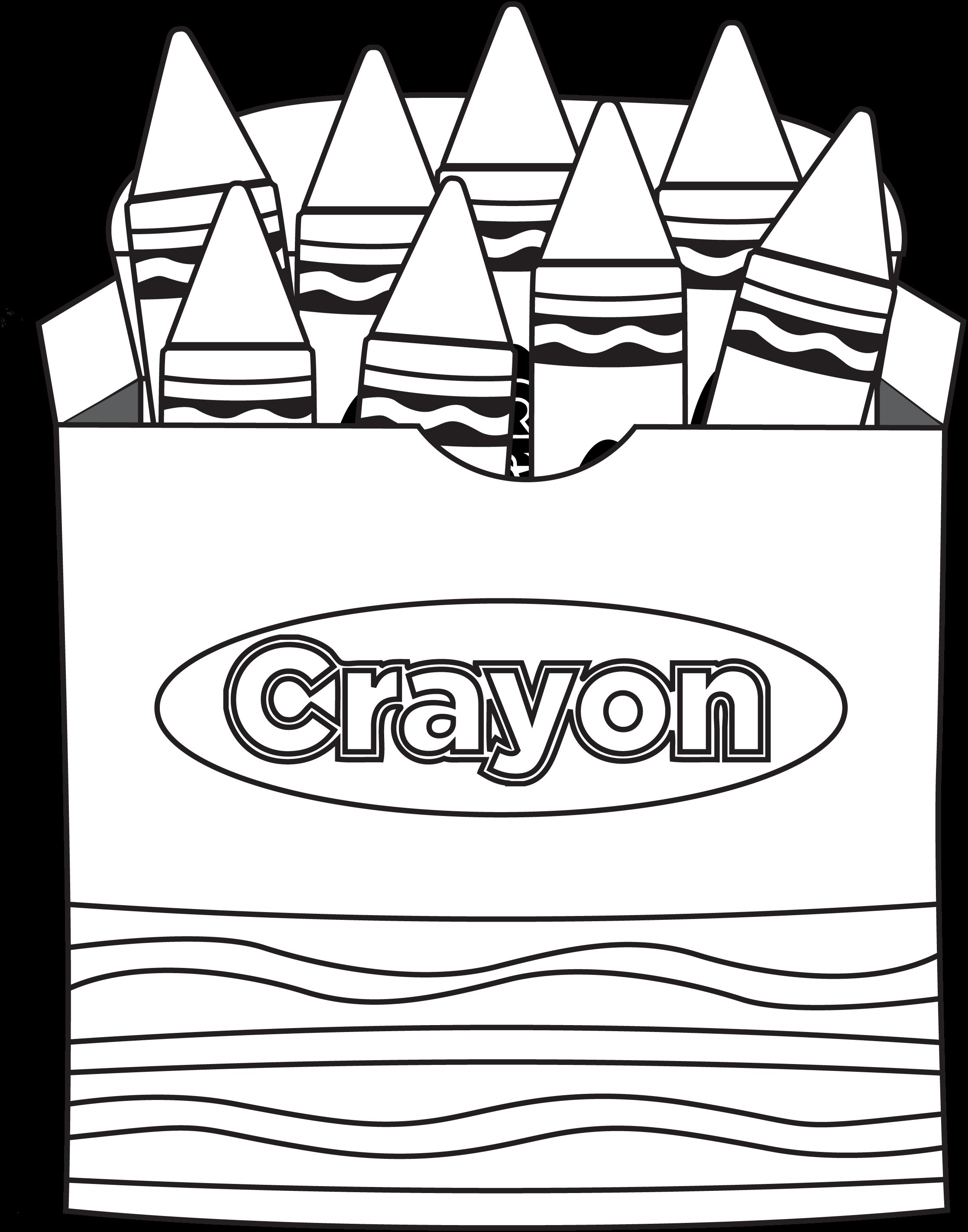 Crayon Coloring Pages  Printable 19j - Save it to your computer
