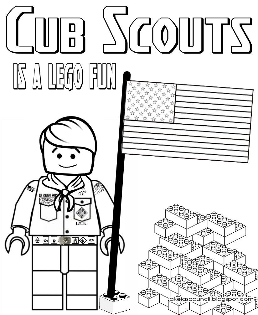 Cub Scout Coloring Pages - Lego Cub Scout Coloring Page Great for the Blue & Gold Banquet