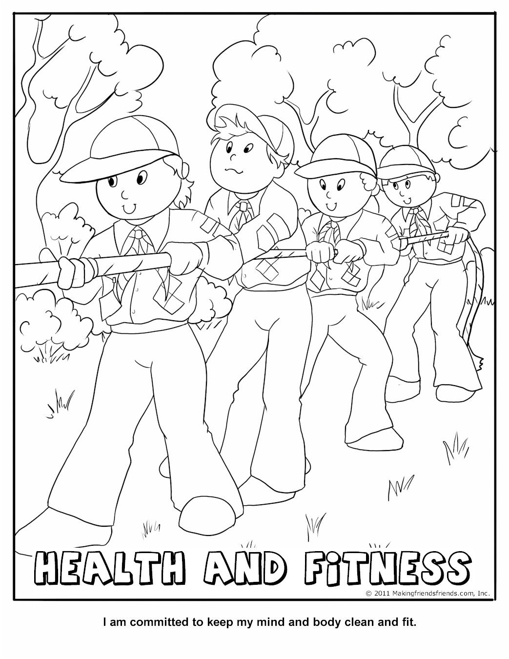 Cub Scout Coloring Pages  Gallery 17b - Free For Children