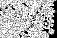 Cuss Words Coloring Pages - Douchebag Swear Word Coloring Page Adult Coloring Page