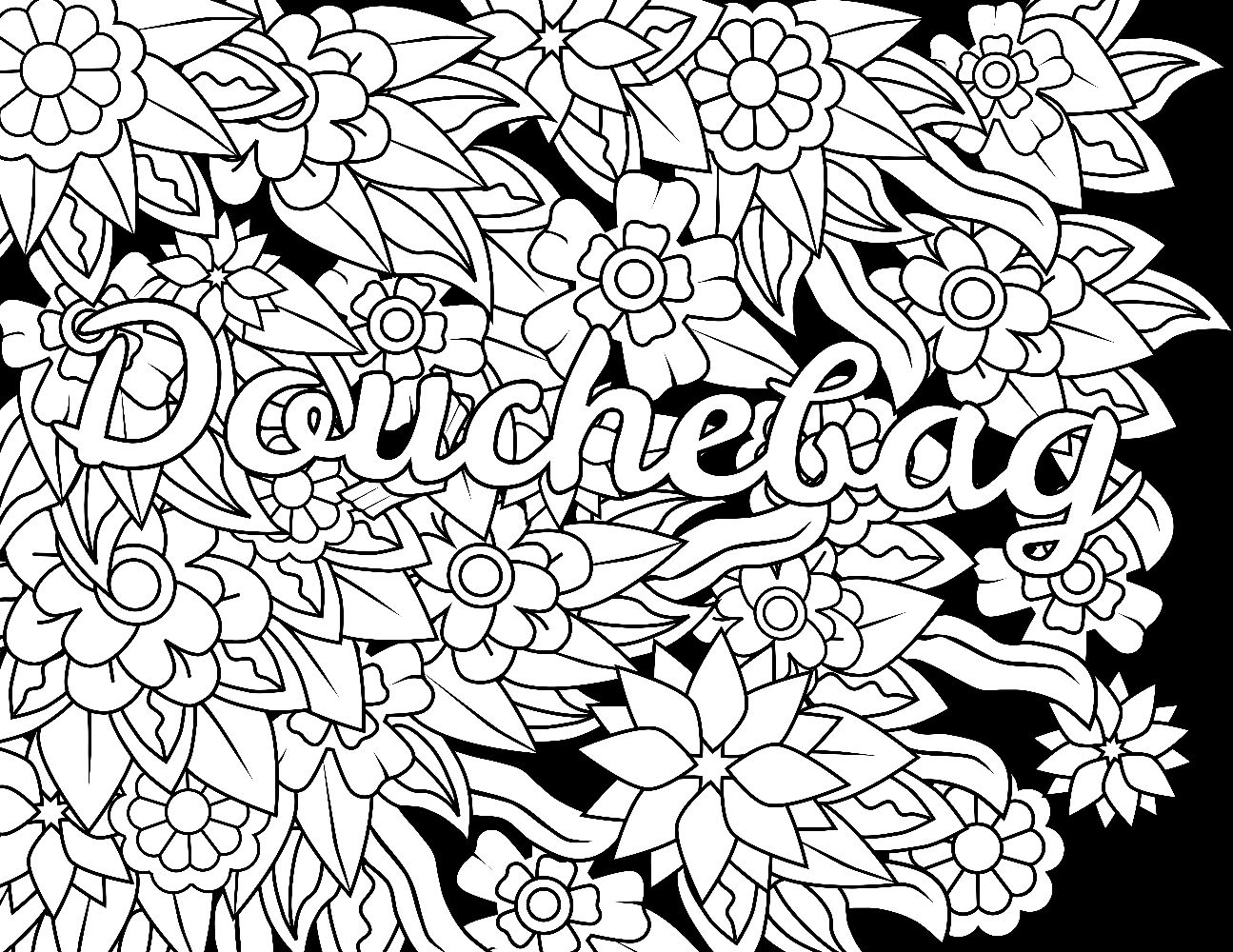 Cuss Words Coloring Pages Collection | Free Coloring Sheets