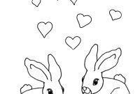 Cute Bunny Coloring Pages - 12 Valentine S Day Coloring Pages