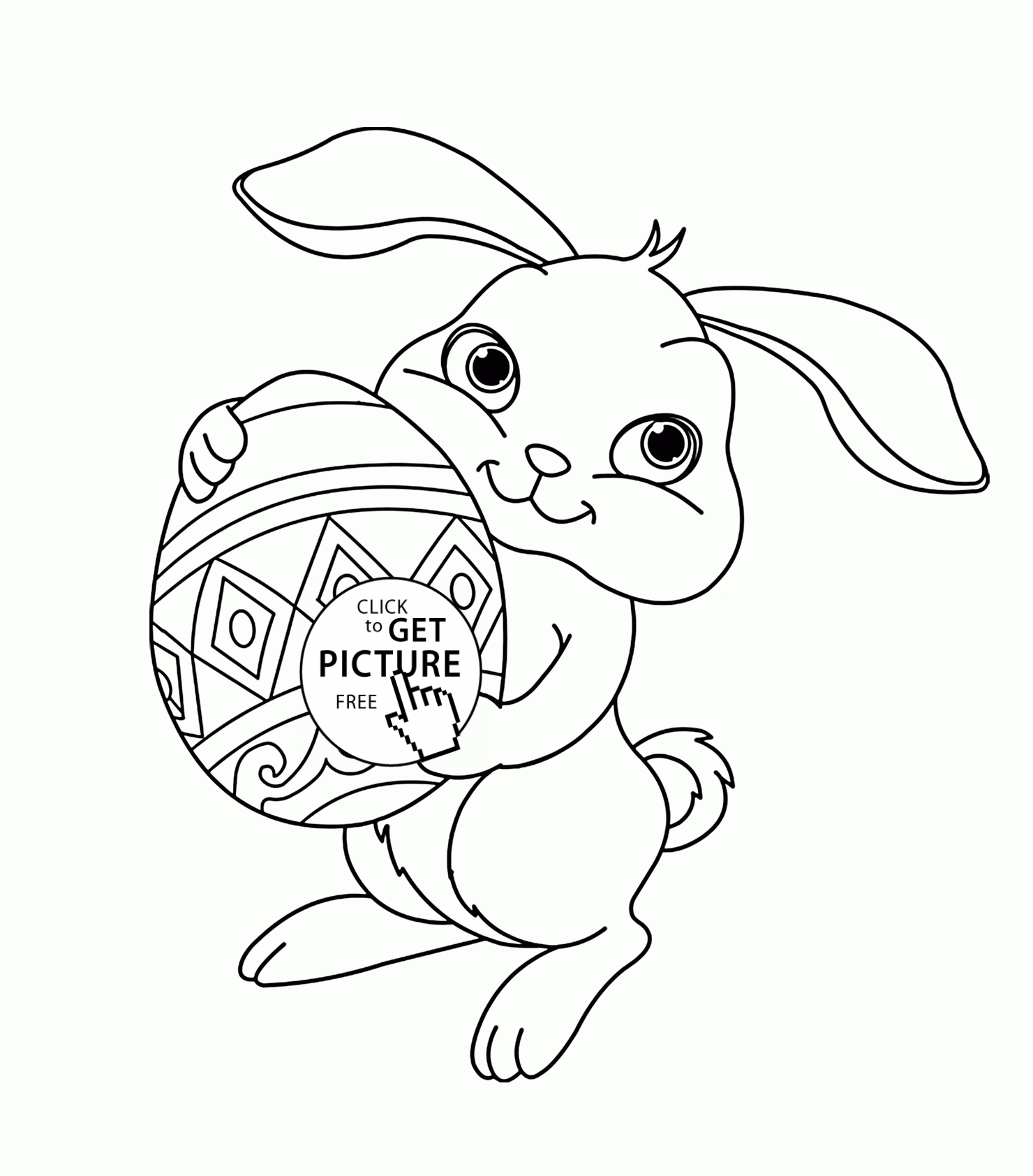 Cute Bunny Coloring Pages  Download 12k - Free For kids