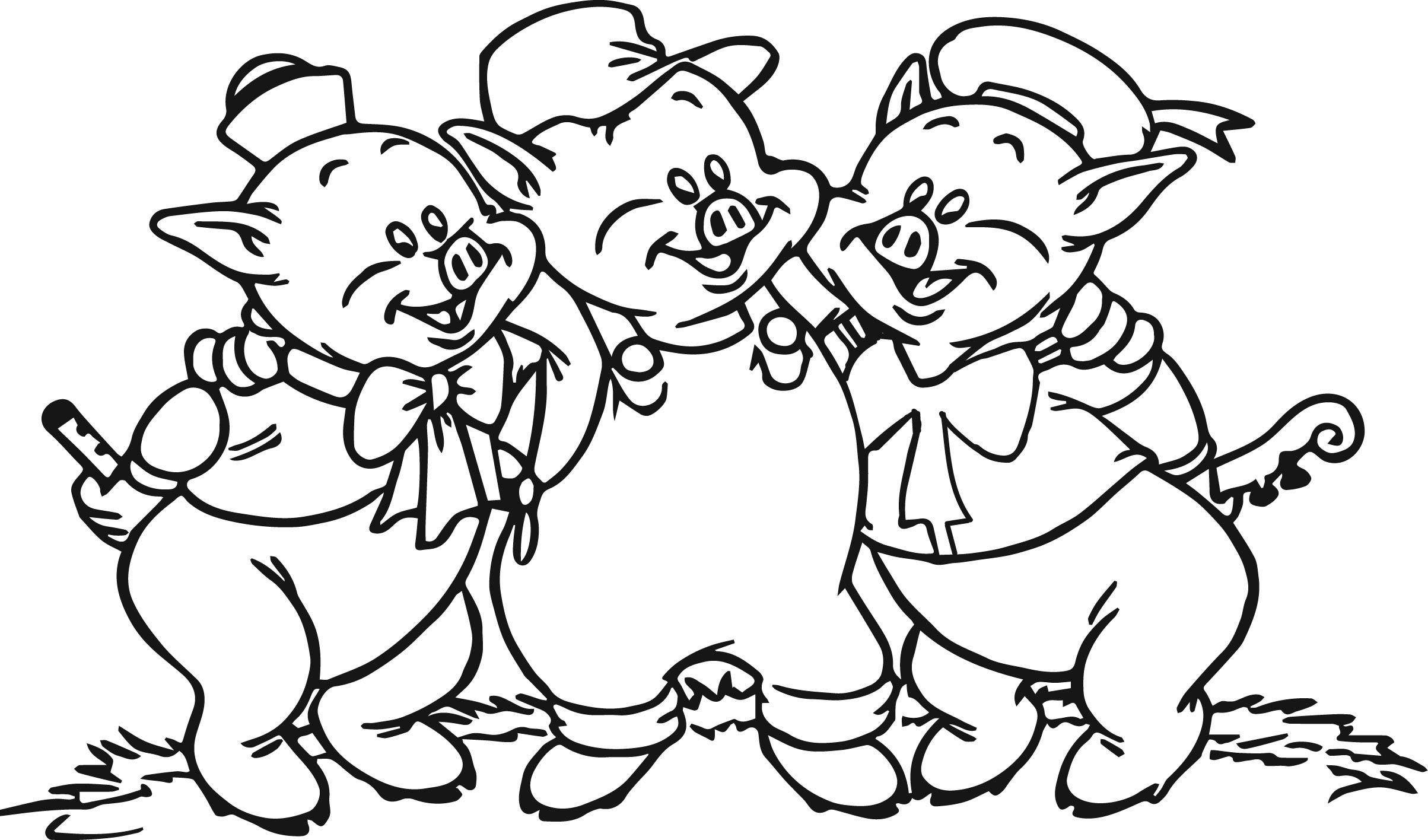 Cute Pig Coloring Pages Download   Free Coloring Sheets