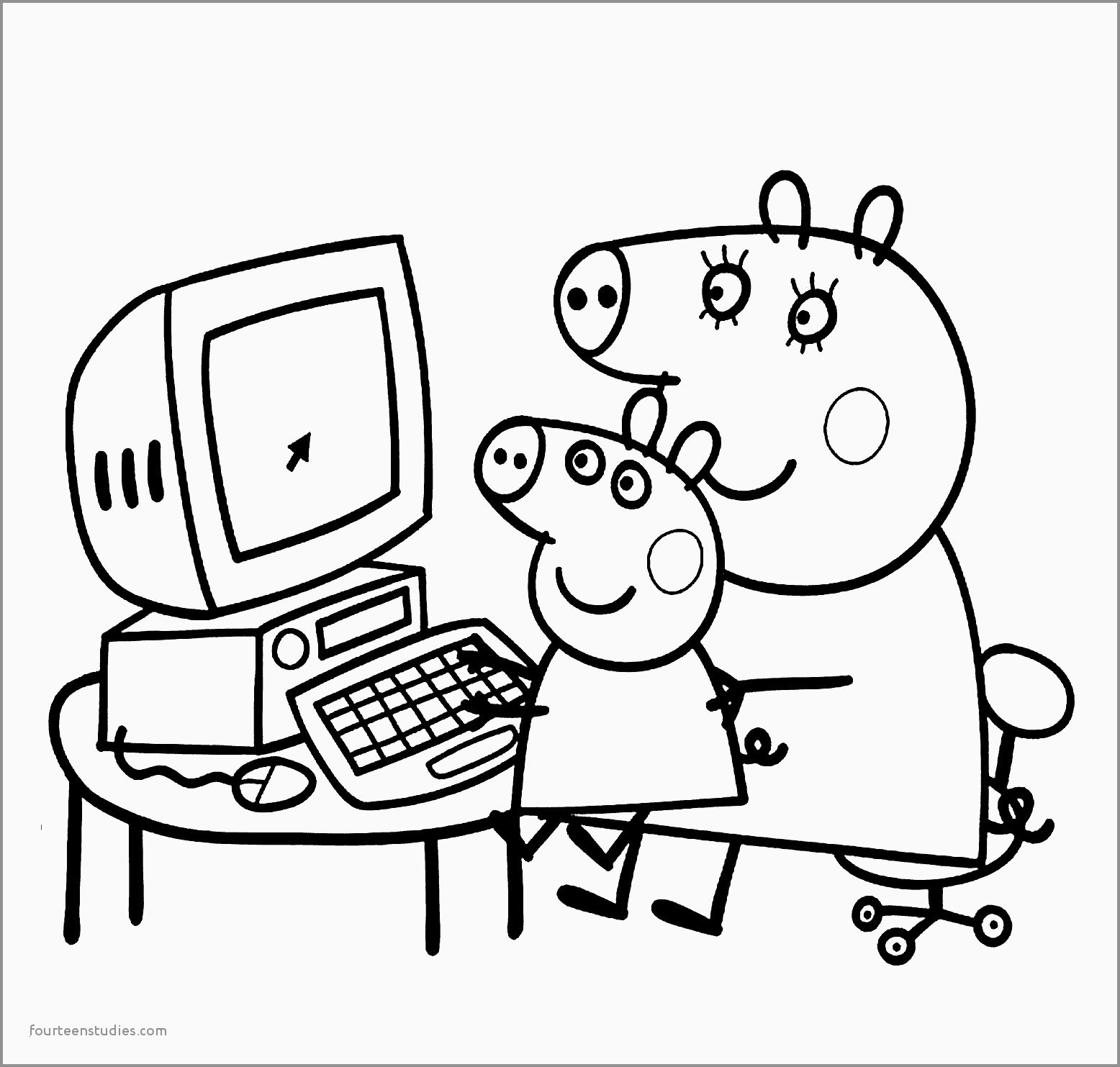 Cute Pig Coloring Pages  Download 5j - To print for your project